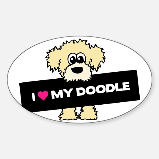 Love My Labradoodle Sticker (Oval)
