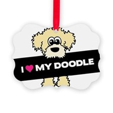 Love My Labradoodle Picture Ornament