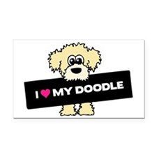 Love My Labradoodle Rectangle Car Magnet