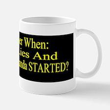 Reagan When Started Propaganda bumper S Mug