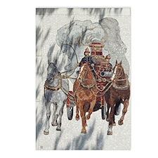 Historical Firemen Dapple Postcards (Package of 8)