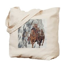 Historical Firemen Dappled with Shade Tote Bag