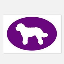 Purple Doodle Silhouette Postcards (Package of 8)
