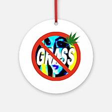 no_GRASS_transparent Round Ornament