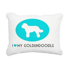 Love My Goldendoodle Rectangular Canvas Pillow