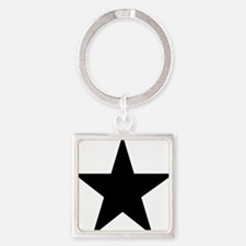 black-star-pentagram Square Keychain