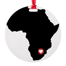 Africa red heart Ornament
