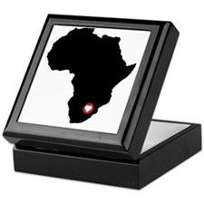 Africa red heart Keepsake Box