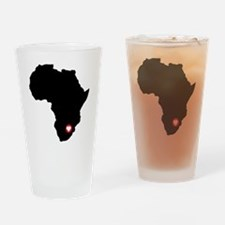 Africa red heart Drinking Glass