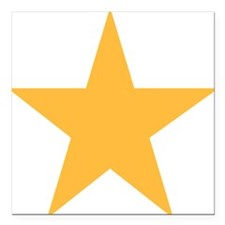 "yellow-star-symbol Square Car Magnet 3"" x 3"""