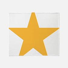 yellow-star-symbol Throw Blanket