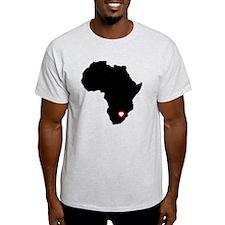 Africa red heart T-Shirt