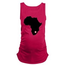 Africa red heart Maternity Tank Top
