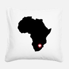 Africa red heart Square Canvas Pillow