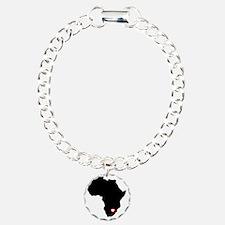 Africa red heart Charm Bracelet, One Charm