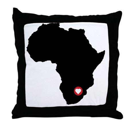 Africa red heart Throw Pillow by ADMIN_CP9023056