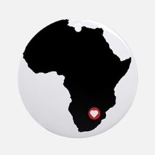 Africa red heart Round Ornament
