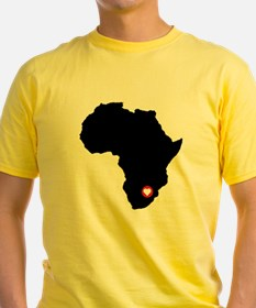 Africa red heart T