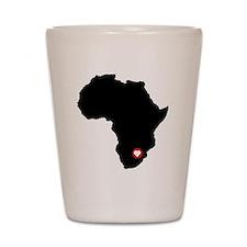 Africa red heart Shot Glass