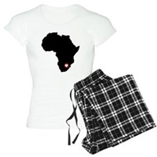 Africa red heart Pajamas