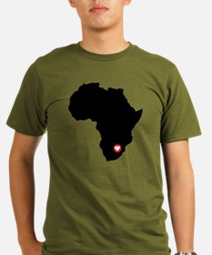 Africa red heart T-Shirt