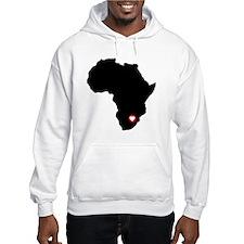 Africa red heart Hoodie