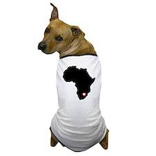 Africa red heart Dog T-Shirt