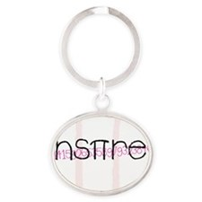 Pink Inspire 2 Oval Keychain
