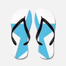 baby-blue-star-symbol Flip Flops