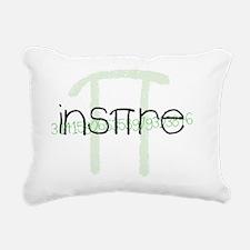Green Inspire Rectangular Canvas Pillow