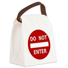 do-not-enter-sign Canvas Lunch Bag