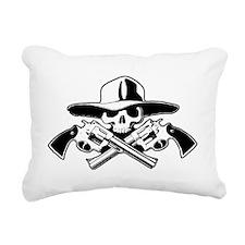 skull-crossed-pistolas-c Rectangular Canvas Pillow