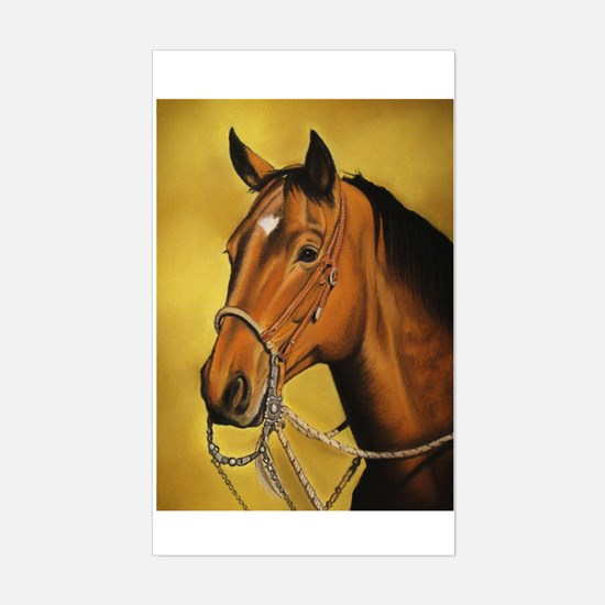 Western Horse Sticker (Rectangle)