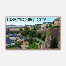 Luxembourg City Car Magnet 20 x 12
