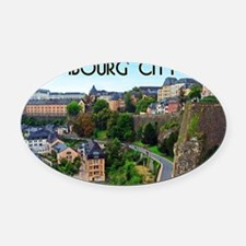 Luxembourg City Oval Car Magnet