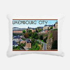 Luxembourg City Rectangular Canvas Pillow