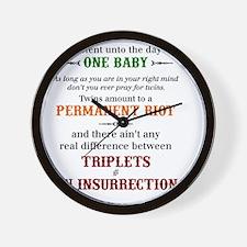twain quote Wall Clock