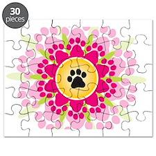 Paw Prints Flower Puzzle