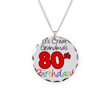 Great Grandmas 80th Birthday Necklace Circle Charm