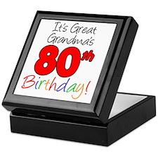 Great Grandmas 80th Birthday Keepsake Box