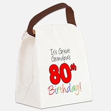 Great Grandpas 80th Birthday Canvas Lunch Bag