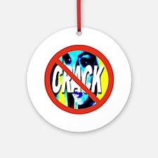 no_CRACK_transparent Round Ornament