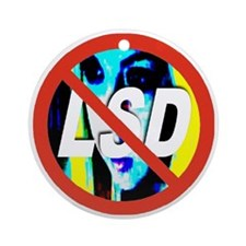 no_LSD_transparent Round Ornament