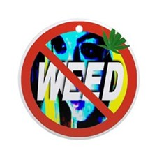 no_WEED_transparent Round Ornament