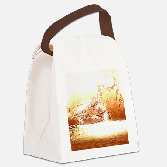 tilly sketch Canvas Lunch Bag