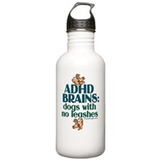 adhdbrainsdogsBUTTONS Water Bottle
