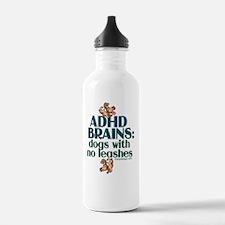 adhdbrainsdogsBUTTONS Water Bottle