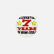 Celebrating 7 Year Old Birthday Mini Button
