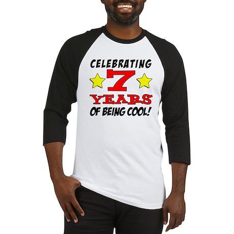 Celebrating 7 Year Old Birthday Baseball Jersey