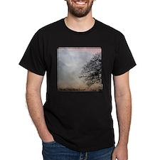 TreeSunsetRidges_15X15_framed T-Shirt